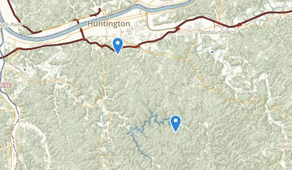 Huntington, West Virginia Map