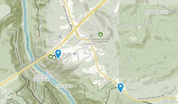 Lansing, West Virginia Map