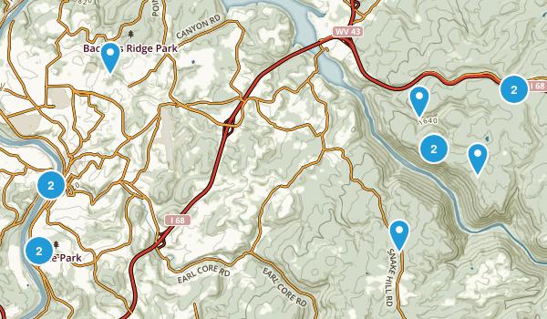 Morgantown, West Virginia Map