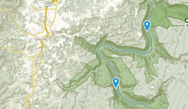 Oak Hill, West Virginia Map