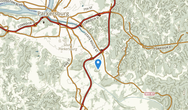 Parkersburg, West Virginia Map
