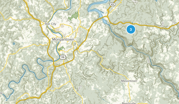 Pisgah, West Virginia Map