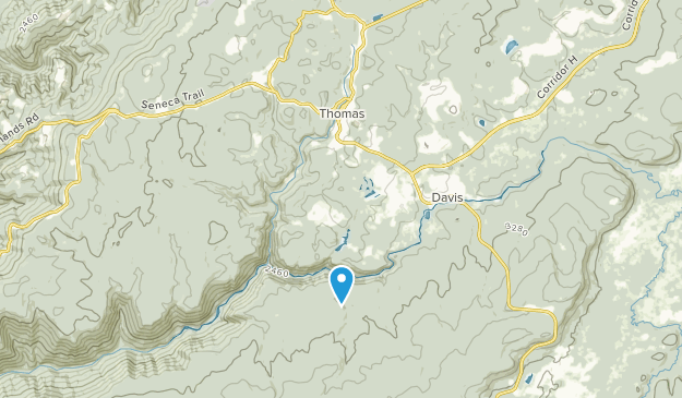Thomas, West Virginia Map