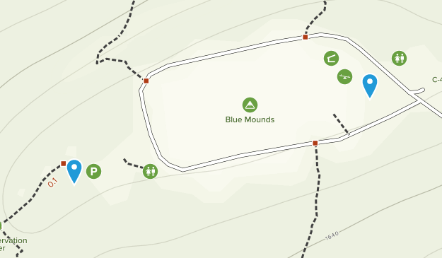 Blue Mounds, Wisconsin Map