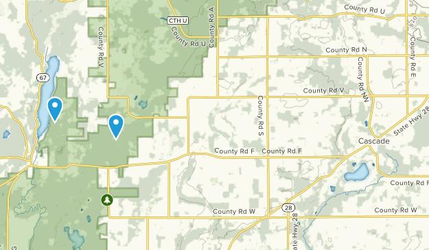 Cascade, Wisconsin Map