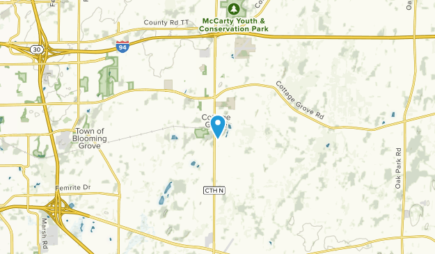 Cottage Grove, Wisconsin Map