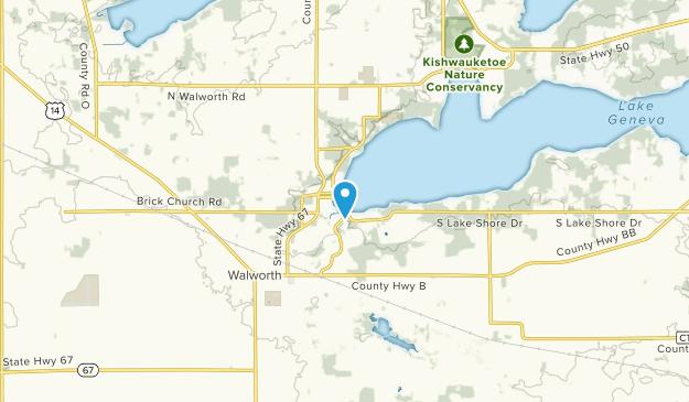 Fontana, Wisconsin Map