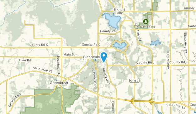 Glenbeulah, Wisconsin Map