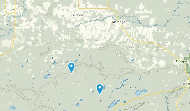 Marengo, Wisconsin Map