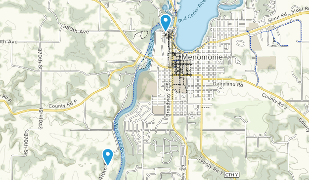 Menomonie, Wisconsin Map
