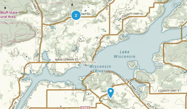 Merrimac, Wisconsin Map