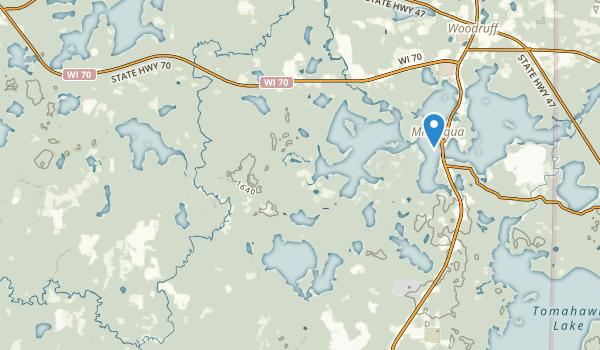 Minocqua, Wisconsin Map