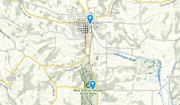 New Glarus, Wisconsin Map