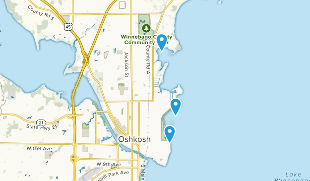 Oshkosh, Wisconsin Map