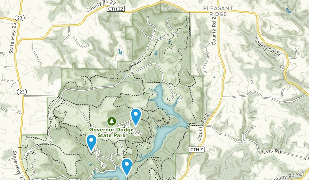 Pleasant Ridge, Wisconsin Map