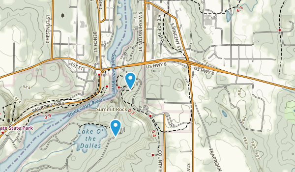 St Croix Falls, Wisconsin Map
