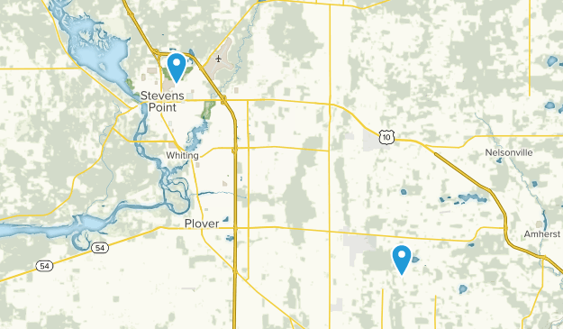 Stevens Point, Wisconsin Map