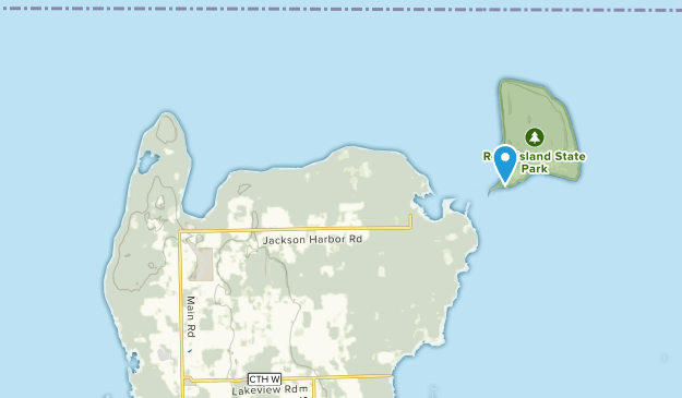 Washington Island, Wisconsin Map