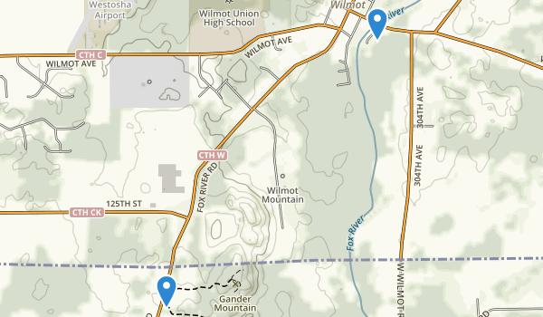Wilmot, Wisconsin Map