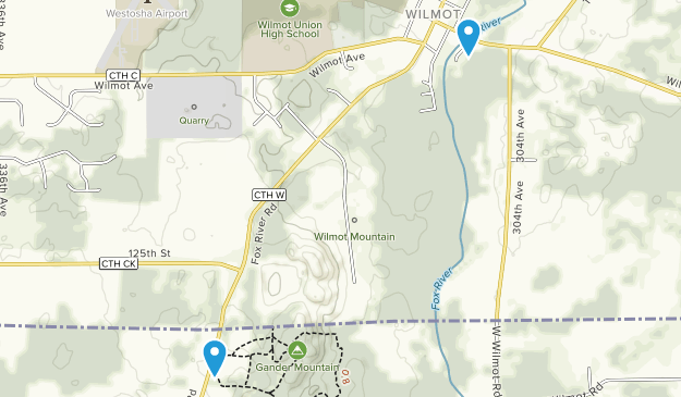 Wilmot, Wisconsin Map