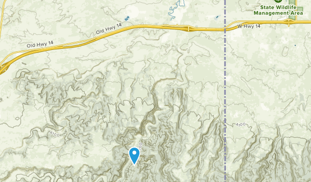 Beulah, Wyoming Map