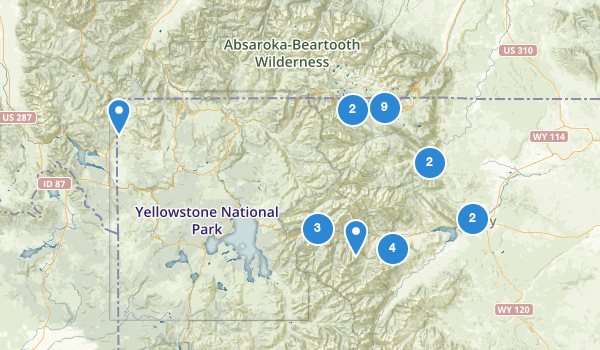 trail locations for Cody, Wyoming