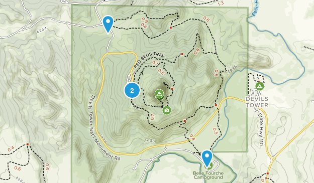 Devils Tower, Wyoming Map