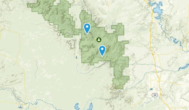 Garrett, Wyoming Map