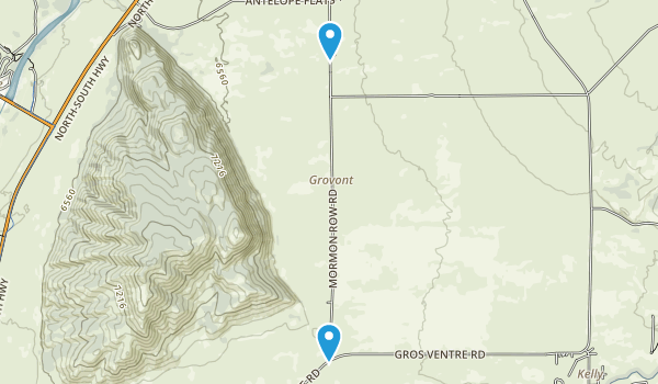 Grovont, Wyoming Map
