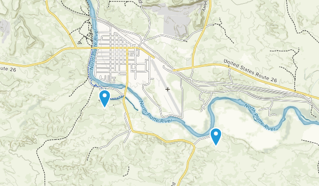 Guernsey, Wyoming Map