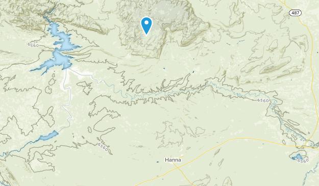 Hanna, Wyoming Map