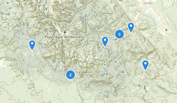 Lander, Wyoming Map