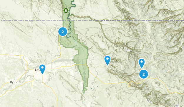 Lovell, Wyoming Map