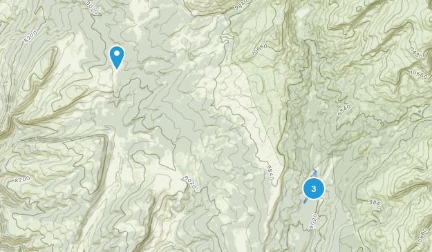 Meadow Lark Lake, Wyoming Map