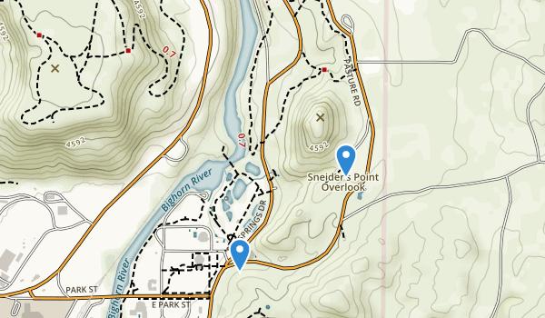 Thermopolis, Wyoming Map