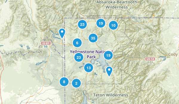 Best Trails Near Yellowstone National Park Wyoming Photos - Yellowstone map us