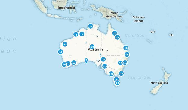 Regions Of Australia Map.Best Regions In Australia Alltrails
