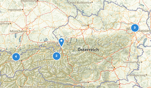 trail locations for Austria