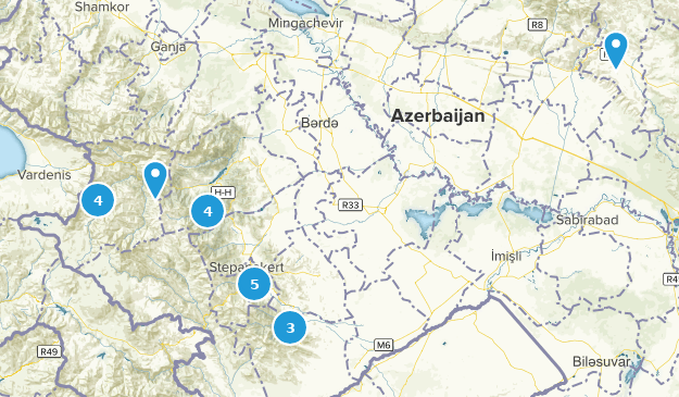 Azerbaijan Cities Map