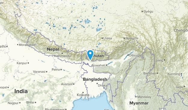 Bután Regions Map