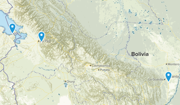 Bolivia Cities Map