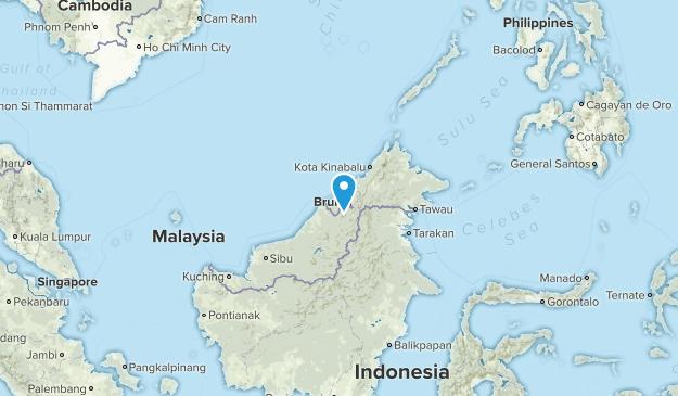 Brunei Cities Map