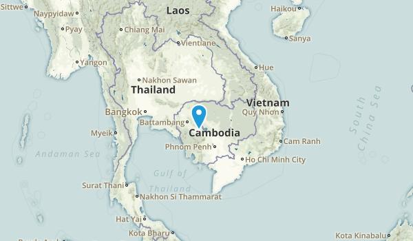 Cambodia Regions Map