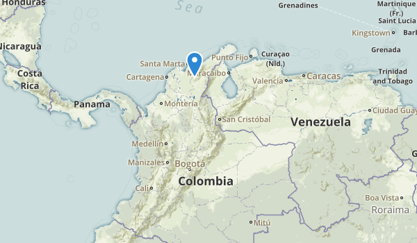 trail locations for Colombia