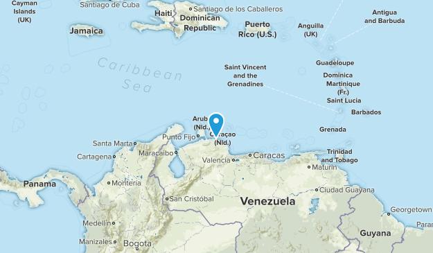 Curacao Map
