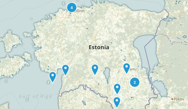 Estonia Regions Map