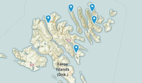 Faroe Islands Regions Map