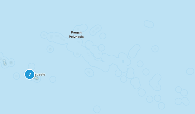 French Polynesia Cities Map