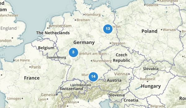 trail locations for Germany