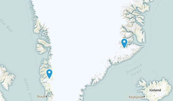 Greenland Regions Map